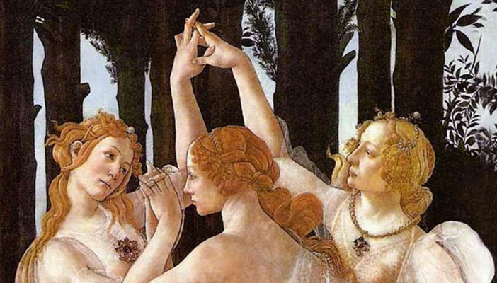 3 graces by boticelli