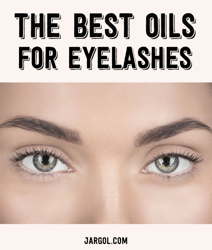 Natural oils for eyelashes
