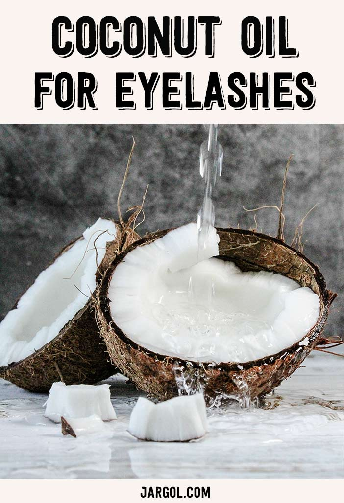 Coconut oil to be used for eyelashes