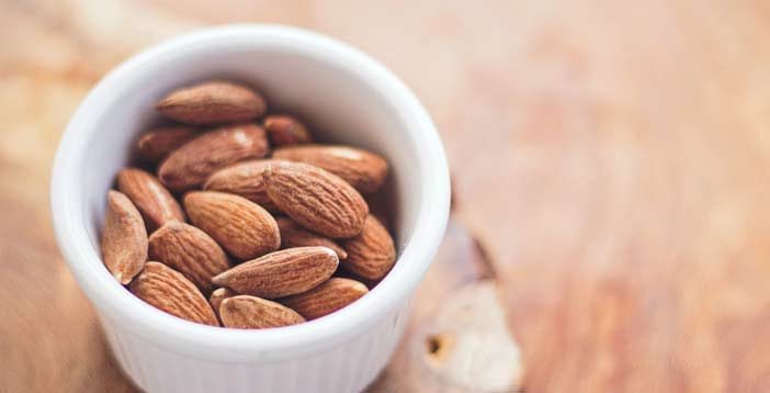 shelled almond in a cup